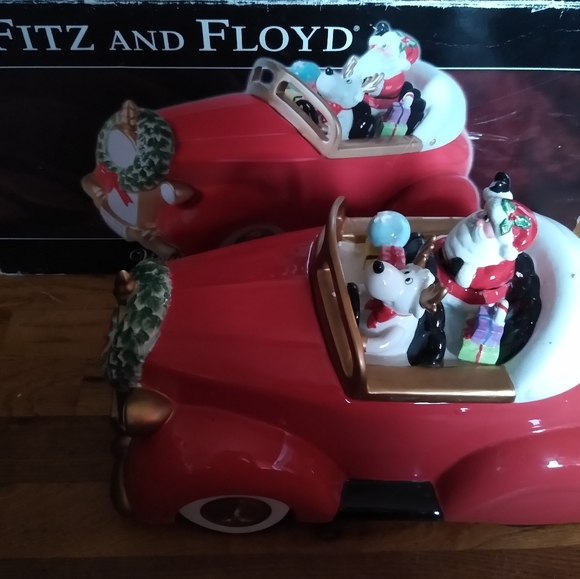 Fitz and Floyd Christmas cookie jar